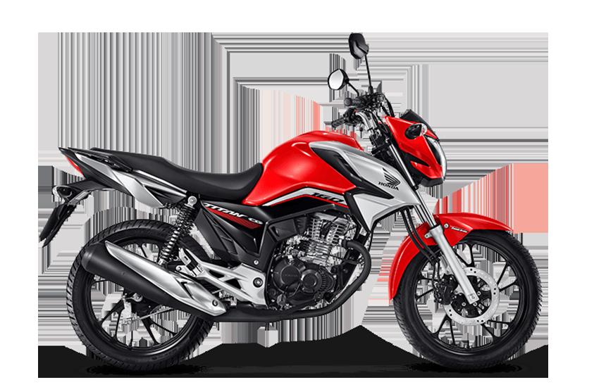 Moto Honda cg 160 titan vermelha