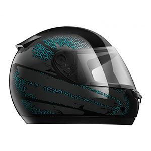 boutique capacete hfs 2018 preto e verde - Moto Honda Motopel