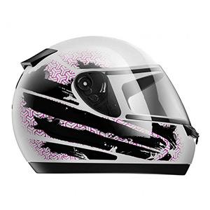 boutique capacete hfs 2020 branco rosa - Moto Honda Motopel