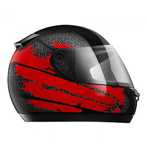 boutique capacete hfs 2020 vermelho prata - Moto Honda Motopel