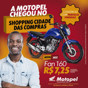 card shopping da cidade - Moto Honda Motopel
