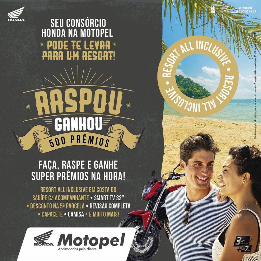 raspou ganhou 500 premios - Moto Honda Motopel